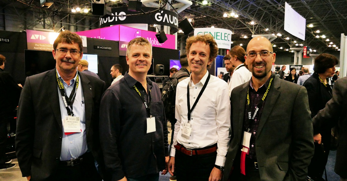 Mike, Ian, Eelco and Paul at AES 143