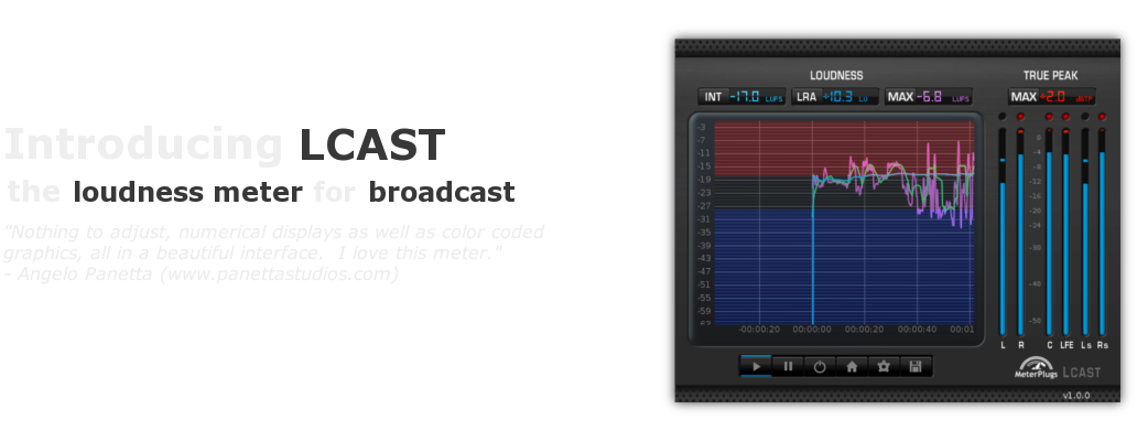 Introducing LCAST Loudness Meter.